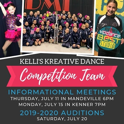 Kelli's Kreative Dance Competition Team Auditions and Parent Meetings