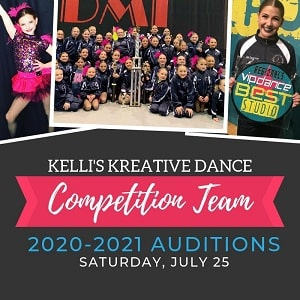 Competition Team Audition Date for 2020-2021