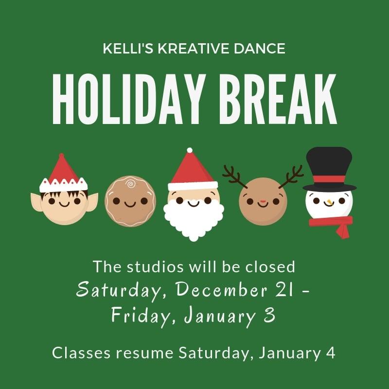 KKD Christmas Break Dates